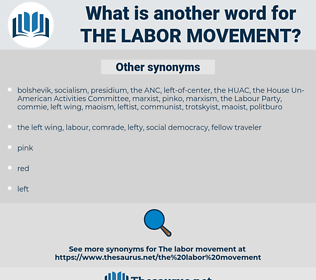 the labor movement, synonym the labor movement, another word for the labor movement, words like the labor movement, thesaurus the labor movement