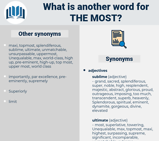 the most, synonym the most, another word for the most, words like the most, thesaurus the most