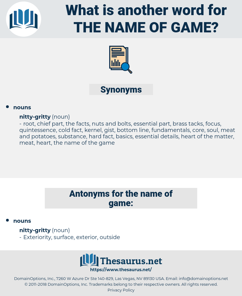 the name of game, synonym the name of game, another word for the name of game, words like the name of game, thesaurus the name of game