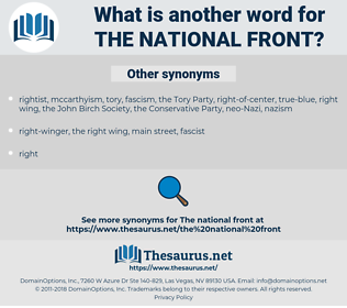 the National Front, synonym the National Front, another word for the National Front, words like the National Front, thesaurus the National Front