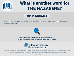 the Nazarene, synonym the Nazarene, another word for the Nazarene, words like the Nazarene, thesaurus the Nazarene