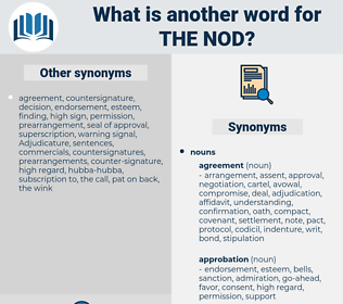 the nod, synonym the nod, another word for the nod, words like the nod, thesaurus the nod