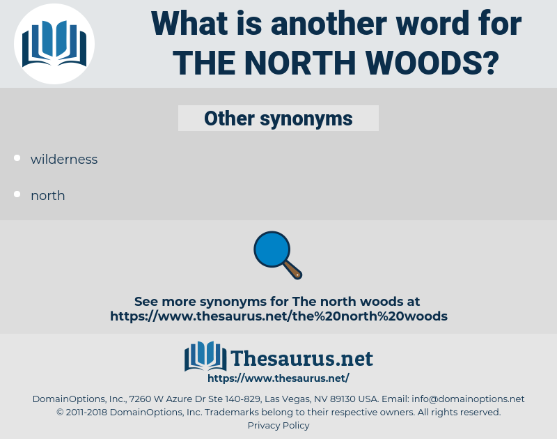 the north woods, synonym the north woods, another word for the north woods, words like the north woods, thesaurus the north woods
