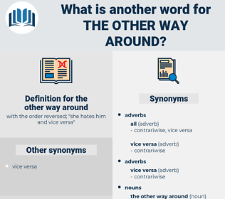 the other way around, synonym the other way around, another word for the other way around, words like the other way around, thesaurus the other way around