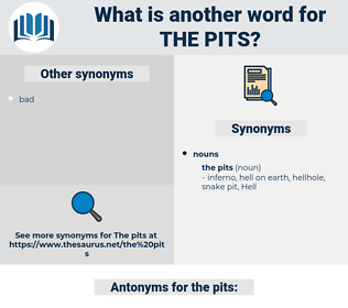 the pits, synonym the pits, another word for the pits, words like the pits, thesaurus the pits