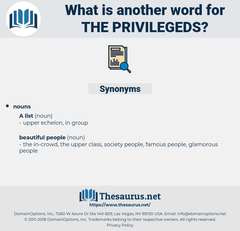 the privilegeds, synonym the privilegeds, another word for the privilegeds, words like the privilegeds, thesaurus the privilegeds
