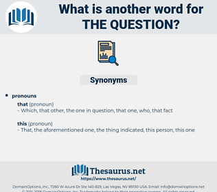 the question, synonym the question, another word for the question, words like the question, thesaurus the question