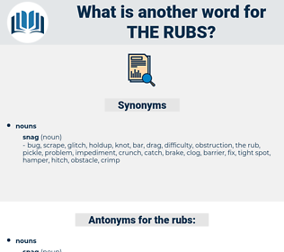 the rubs, synonym the rubs, another word for the rubs, words like the rubs, thesaurus the rubs