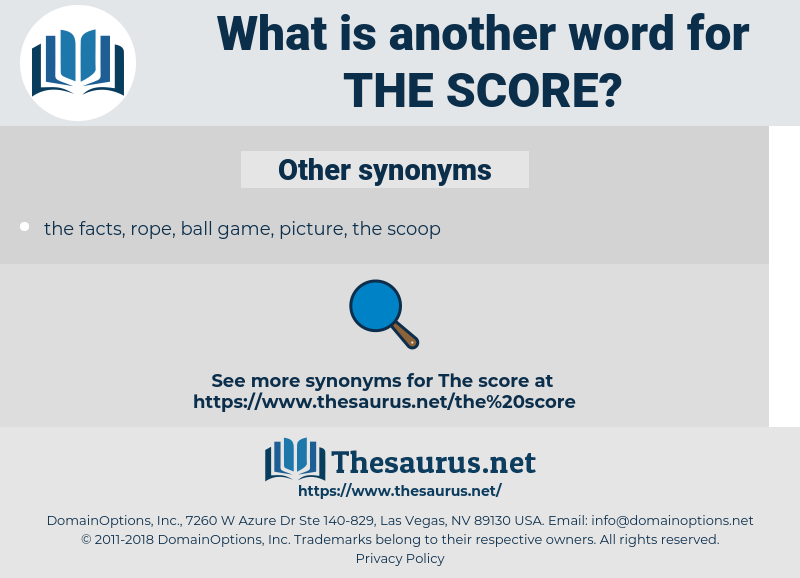 the score, synonym the score, another word for the score, words like the score, thesaurus the score