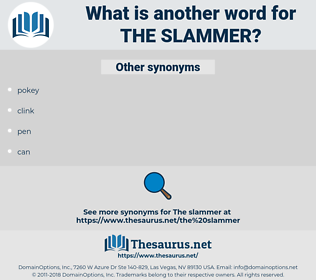 the slammer, synonym the slammer, another word for the slammer, words like the slammer, thesaurus the slammer