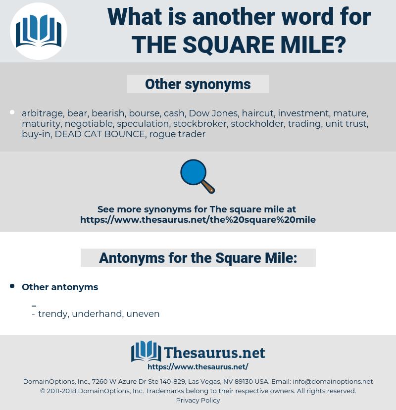 the Square Mile, synonym the Square Mile, another word for the Square Mile, words like the Square Mile, thesaurus the Square Mile