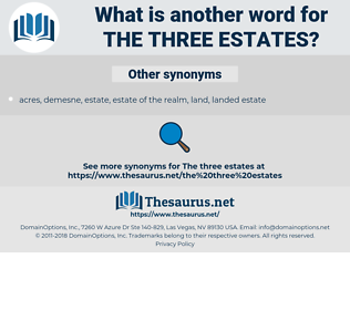 the three estates, synonym the three estates, another word for the three estates, words like the three estates, thesaurus the three estates