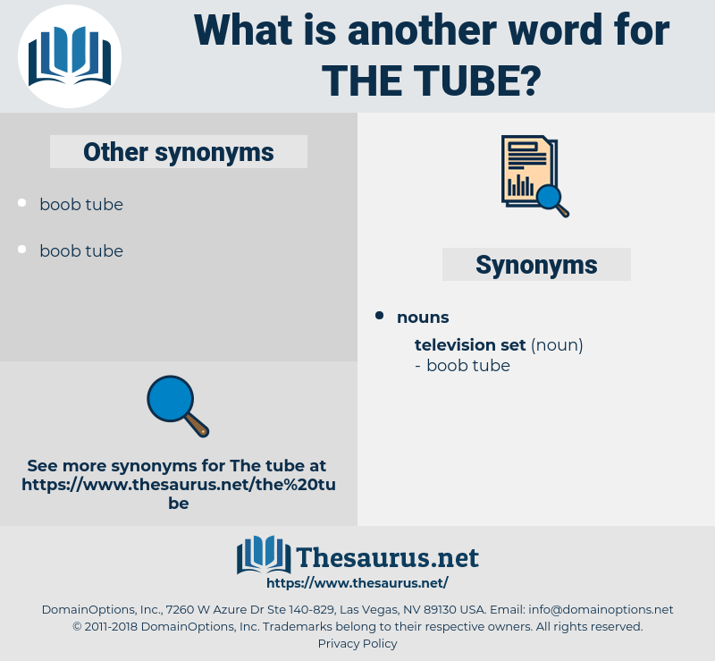 the tube, synonym the tube, another word for the tube, words like the tube, thesaurus the tube