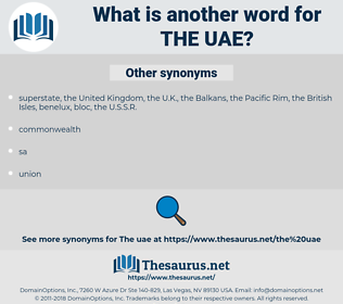 the UAE, synonym the UAE, another word for the UAE, words like the UAE, thesaurus the UAE