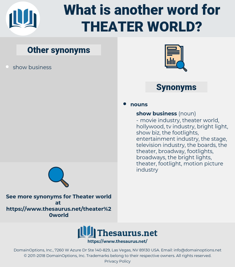 theater world, synonym theater world, another word for theater world, words like theater world, thesaurus theater world