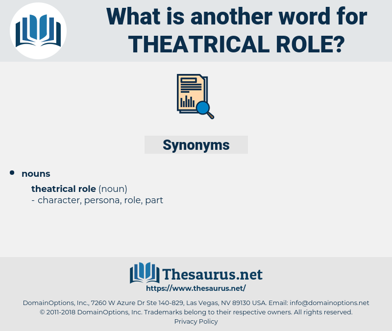 theatrical role, synonym theatrical role, another word for theatrical role, words like theatrical role, thesaurus theatrical role