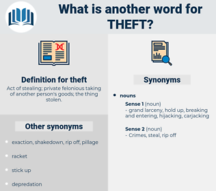theft, synonym theft, another word for theft, words like theft, thesaurus theft
