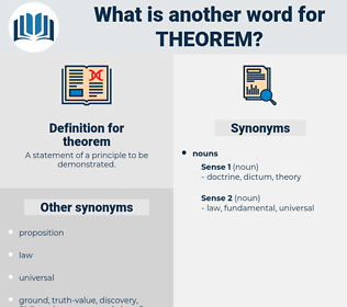 theorem, synonym theorem, another word for theorem, words like theorem, thesaurus theorem
