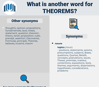 theorems, synonym theorems, another word for theorems, words like theorems, thesaurus theorems