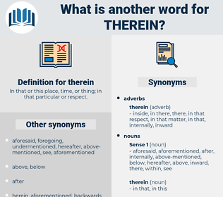 therein, synonym therein, another word for therein, words like therein, thesaurus therein