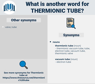thermionic tube, synonym thermionic tube, another word for thermionic tube, words like thermionic tube, thesaurus thermionic tube