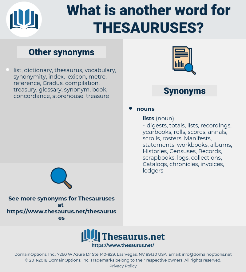 thesauruses, synonym thesauruses, another word for thesauruses, words like thesauruses, thesaurus thesauruses
