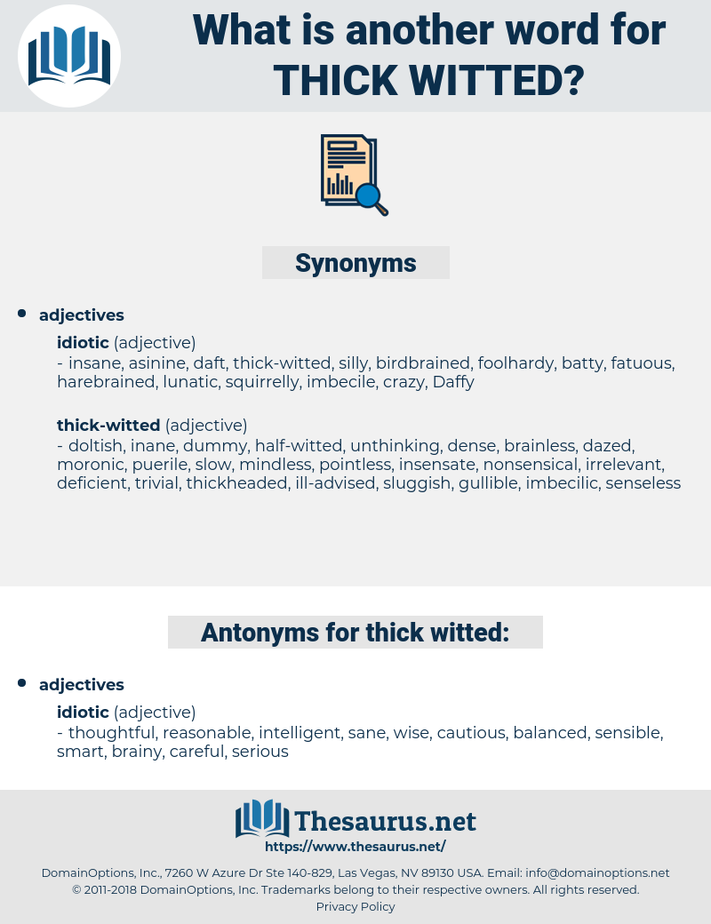thick-witted, synonym thick-witted, another word for thick-witted, words like thick-witted, thesaurus thick-witted