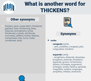 thickens, synonym thickens, another word for thickens, words like thickens, thesaurus thickens