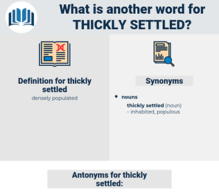 thickly settled, synonym thickly settled, another word for thickly settled, words like thickly settled, thesaurus thickly settled