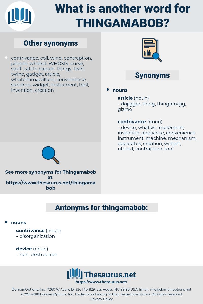 thingamabob, synonym thingamabob, another word for thingamabob, words like thingamabob, thesaurus thingamabob