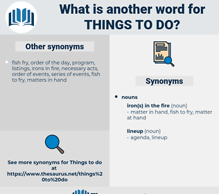 things to do, synonym things to do, another word for things to do, words like things to do, thesaurus things to do