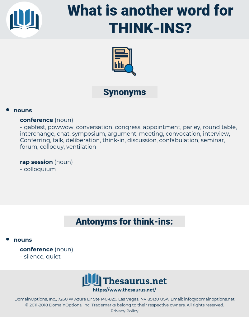think ins, synonym think ins, another word for think ins, words like think ins, thesaurus think ins