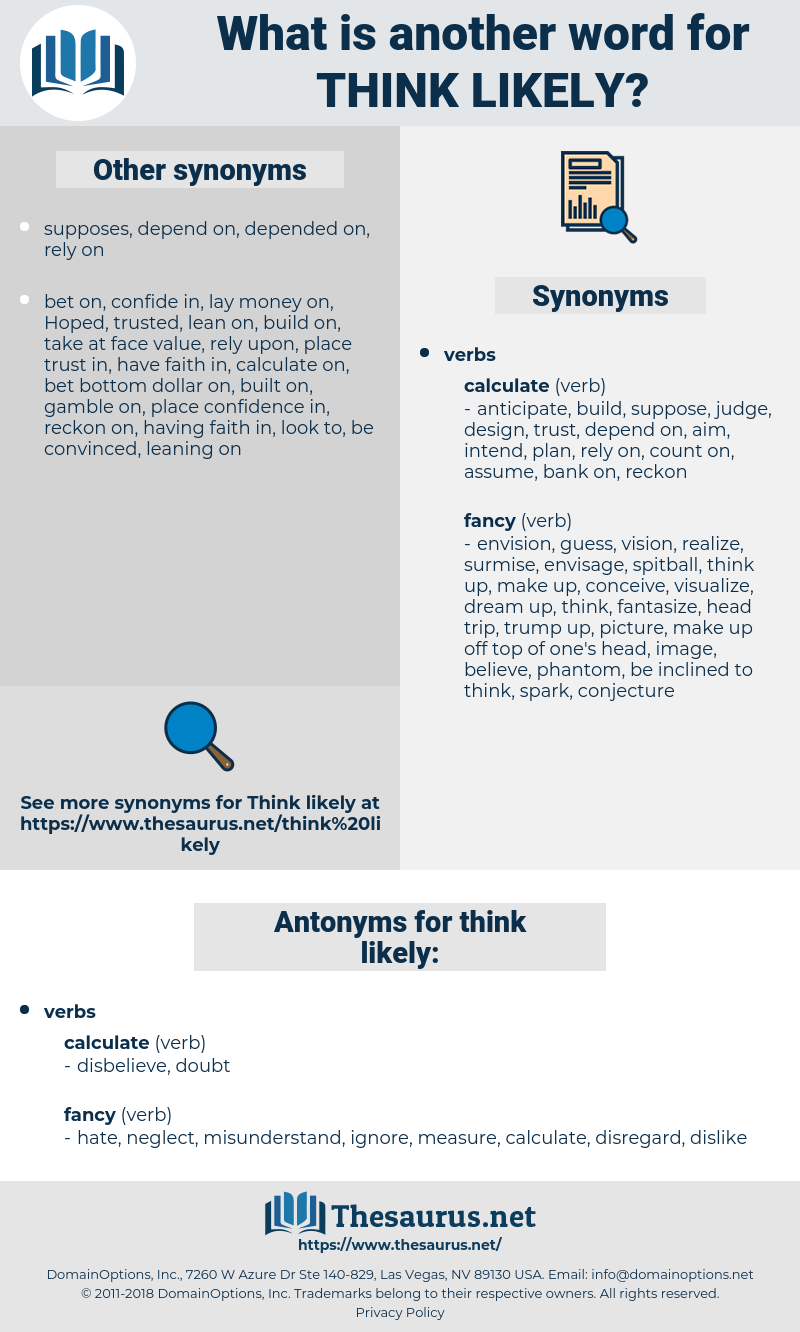 think likely, synonym think likely, another word for think likely, words like think likely, thesaurus think likely
