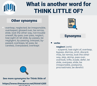 think little of, synonym think little of, another word for think little of, words like think little of, thesaurus think little of