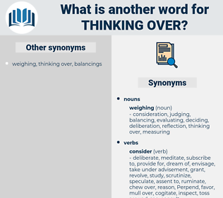 thinking over, synonym thinking over, another word for thinking over, words like thinking over, thesaurus thinking over