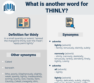 thinly, synonym thinly, another word for thinly, words like thinly, thesaurus thinly