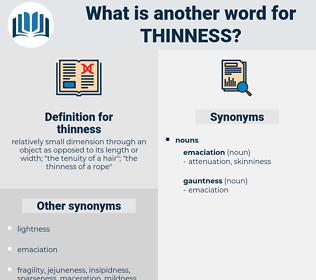 thinness, synonym thinness, another word for thinness, words like thinness, thesaurus thinness