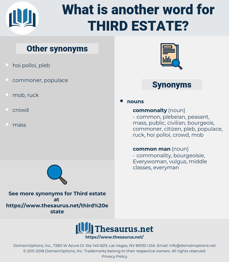 third estate, synonym third estate, another word for third estate, words like third estate, thesaurus third estate