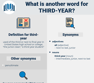 third-year, synonym third-year, another word for third-year, words like third-year, thesaurus third-year