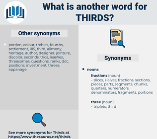 thirds, synonym thirds, another word for thirds, words like thirds, thesaurus thirds