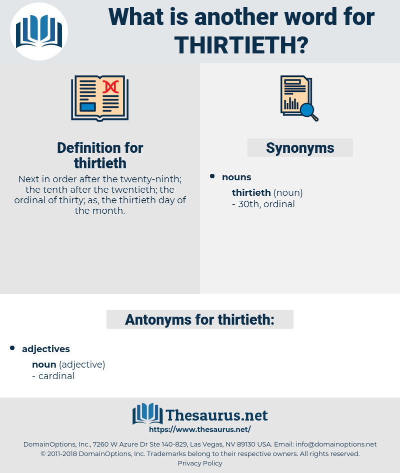 thirtieth, synonym thirtieth, another word for thirtieth, words like thirtieth, thesaurus thirtieth