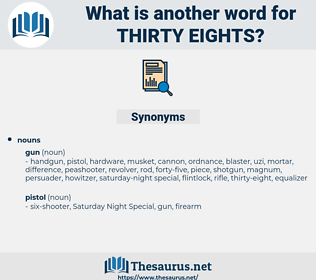 thirty-eights, synonym thirty-eights, another word for thirty-eights, words like thirty-eights, thesaurus thirty-eights