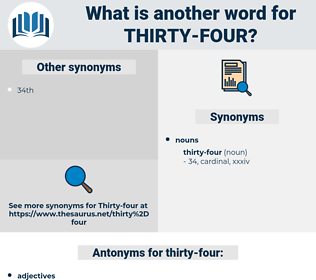 thirty-four, synonym thirty-four, another word for thirty-four, words like thirty-four, thesaurus thirty-four