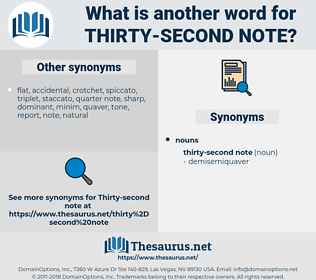 thirty-second note, synonym thirty-second note, another word for thirty-second note, words like thirty-second note, thesaurus thirty-second note