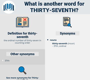 thirty-seventh, synonym thirty-seventh, another word for thirty-seventh, words like thirty-seventh, thesaurus thirty-seventh