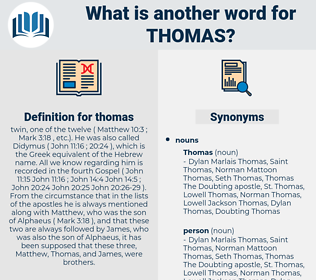 thomas, synonym thomas, another word for thomas, words like thomas, thesaurus thomas