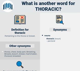 thoracic, synonym thoracic, another word for thoracic, words like thoracic, thesaurus thoracic