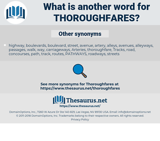 thoroughfares, synonym thoroughfares, another word for thoroughfares, words like thoroughfares, thesaurus thoroughfares