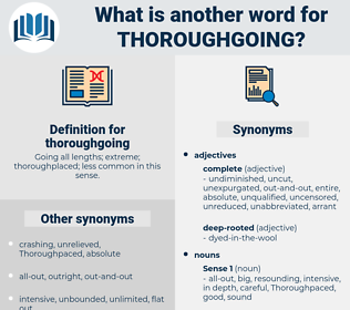thoroughgoing, synonym thoroughgoing, another word for thoroughgoing, words like thoroughgoing, thesaurus thoroughgoing