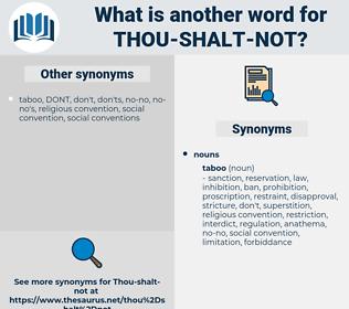 thou shalt not, synonym thou shalt not, another word for thou shalt not, words like thou shalt not, thesaurus thou shalt not